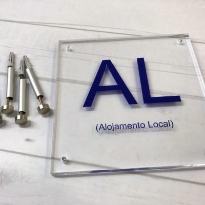 KIT  Placa Acrilica  # ALOJAMENTO LOCAL #